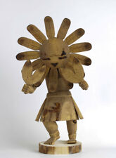 Native American Indian Hand Carved Sunface Kachina Doll Figure 13""