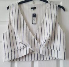 River Island Sleeveless Waistcoat Style Top Blouse Waist Length Size 16