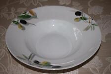 "Gibson Meritage Olive Serving Pasta Bowl - 12"" - Green/Black/White"