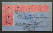 INDIA registered cover 1902 stamps Ahmednagar to Netherlands