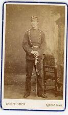PHOTO CDV Kjöbenhavn un militaire / a military Chr. WISMER DENMARK 1880