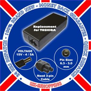 15V 4A PA3377E-2ACA Toshiba Laptop Charger Power Supply
