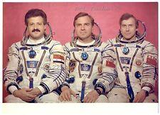"1987 USSR Interkosmos ""Soyuz TM-3"" M.Faris,А.Viktorenko,A.Aleksandrov Real Photo"