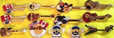 13 Hard Rock Cafe WHISTLER Canada 1990s PIN LOT Guitars Holidays HRC Logo & More