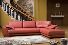 Design Voll-Leder Ecksofa-Sofa-Garnitur-Eckgruppe Lederpolstermöbel 5042-R
