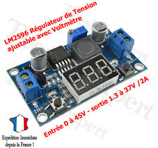 REGULATEUR TENSION AJUSTABLE AVEC VOLTMETRE A LED 1.3 A 37 V - LM2596