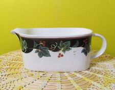 Mikasa Country Row Gravy Boat with Berries & vine 1996-1999 Now discontinued