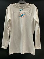 MIAMI DOLPHINS ON FIELD USED DRI FIT COMPRESSION LONG  SLEEVE SIZE LARGE