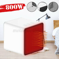 800W Portable Upright Fan Electric Heater Tabletop Home Overheating  *
