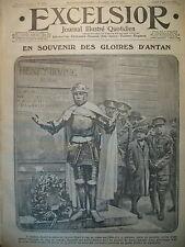 WW1 N° 1875 LONDRES ACTEUR  RECRUTEUR ANGLAIS FRONT RUSSE JOURNAL EXCELSIOR 1916