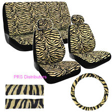 Girly CAR SEAT COVERS ZEBRA BLACK BEIGE ZEBRA in 11 Pieces Gift