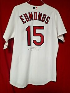 Jim Edmonds Signed Autograph St. Louis Cardinals Majestic Jersey  - JSA NN75724