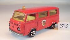Majorette 1/60 Nr. 244 VW Volkswagen T2 Fourgon Bus Pompiers Feuerwehr 2 #323
