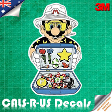 Mario Fire Sale Mushroom Flower Star Yoshi Egg Sticker Car Luggage 3M Film 100mm