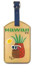 Leatherett Vintage Airline Travel LUGGAGE TAG Baggage Label HAWAII Pineapple JET