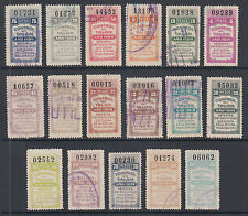 Argentina, Santa Fé, Forbin 290A/316A used 1909 General Tax Fiscals Talon halves