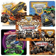 Monster Jam Stickers x 15 - Birthday Favours - Gravedigger - Trucks Party Trios