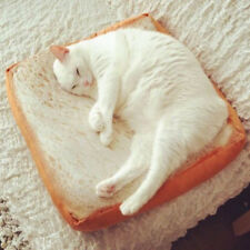 Toast Bread Cat Pillow Dog Pet Supplies Bed Mat Soft Cushion Plush Seat Gifts CB