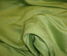 "Suede Micro Faux Upholstery Drapery Kiwi Fabric 60"" Wide sold Bty Upholstery"