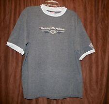 Harley Davidson Crew Neck Shirt Hannums Media PA Pennsylvania Gray Large Bike