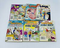 Laugh Digest and Archie Pals n Gals Double Digest Comic Book Lot of 7 - 1990s