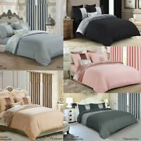 Crushed velvet Microfiber Panel Duvet Quilt cover bedding set with Pillowcases