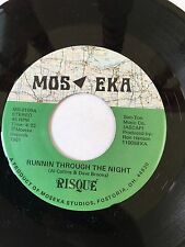 """RARE OHIO HARD ROCK POWER POP 45/ RISQUE """"RUNNIN THROUGH THE NIGHT"""" CLEAN HEAR"""