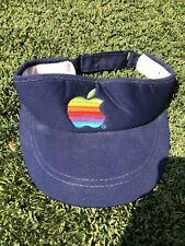 Apple Macintosh Mac Red Visor Hat Rainbow Apple Adjustable iMac iPhone Vintage