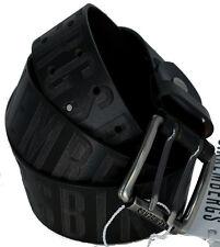 Men's Belt Bikkembergs Belt Men Leather Laser Db H.4 Military Green Medium D18