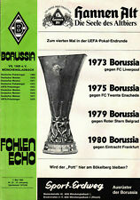 EC III - UEFA Cup Finale 79/80 Borussia Mönchengladbach - Eintracht Frankfurt
