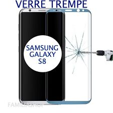 Tempered Glass Film Blue Integral Curved Samsung Galaxy S8