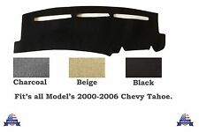 Fit's 2000~2006 Chevy Tahoe Model's Dash Cover Charcoal Carpet Mat