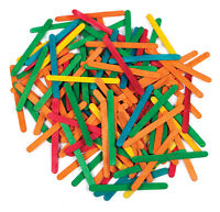 Lollipop Lolly Wooden Sticks COLOURED Craft Crafts Lollies Ice Pops 100 to 6000