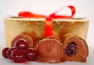 226g/1/2lb Hand-made Belgian Chocolate Whole Cherry & Cointreau Belgian Truffles