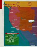 TWA TRANS WORLD AIRLINES 2 PAGE NORTH AMERICA & EUROPE ROUTE MAP 2/1996