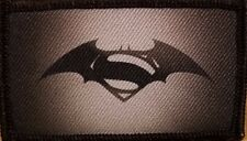 SUPERMAN / BATMAN LOGO Patch With VELCRO® Brand Fastener Funny Tactical  #5