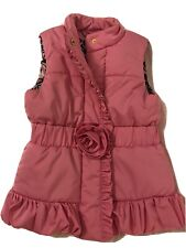 Lilly Pulitzer Girls Pink Vest Puffy with Rose Size 6-7