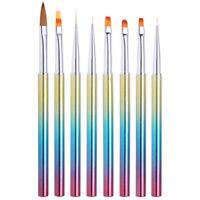 Nail Brush Liner UV Gel Dotting Pen Gradient Handle  Nail Art Tools
