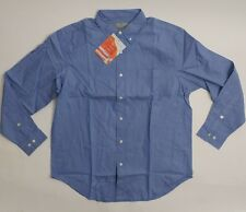 Insect Shield Repellent Mens Blue LS Cotton Oxford Shirt SZ M ~ New!