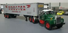 1/64 VINTAGE B-MODEL MACK WOOSTER AND TRAILER DIECAST MADE BY FIRST GEAR IN BOX