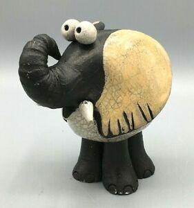 Raku by Crazy Clay South Africa Hand Made Ceramic Elephant