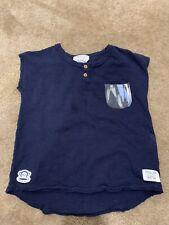 Rachel Zoe x Paul Frank Toddler Girls Boutique Blue Short Sleeve Shirt Size 3T
