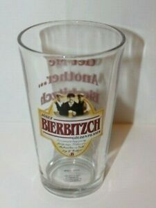 Josef Bierbitzch Beer Glass Golden Pilsner Barware Collectible Pint size Rare
