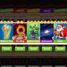 Coin Master Cards :- Tune Fire Ring Santa Andromeda Martian Lettuce