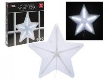 50cm LED CHASING DIGITAL FUNCTION WHITE STAR CHRISTMAS HANGING LIGHT INDOOR PVC