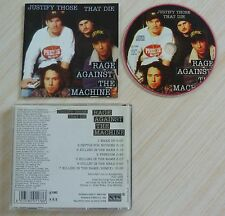 RARE CD ALBUM RAGE AGAINST THE MACHINE JUSTIFY THOSE THAT DIE 1993 MADE IN ITALY