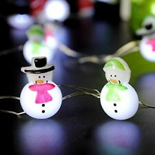 Snowman Solar Powered LED Lights Garden Outdoor Decor Patio Lawn Yard Party Home