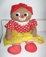 "Beloved Belindy Knickerbocker black cloth fabric doll 16"""