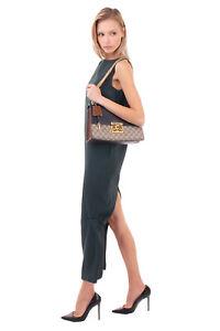 RRP €1880 GUCCI PADLOCK Flap Shoulder Bag Contrast Leather GG Logo Chain Strap