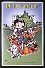 Gambia Betty Boop Wizard Of Oz Stamps S/S 2002 Mnh Animated Cartoon Character